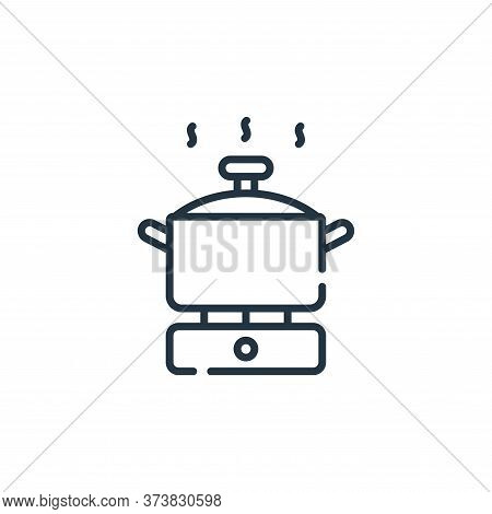 cooking pot icon isolated on white background from free time collection. cooking pot icon trendy and