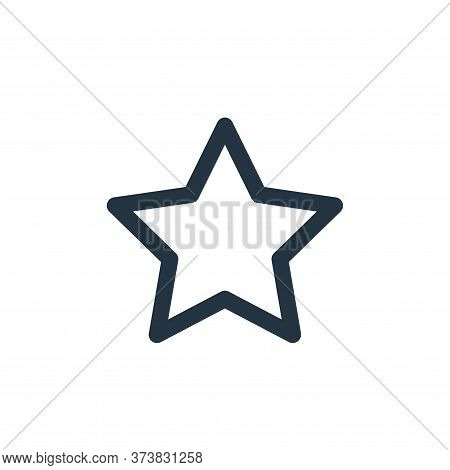 star icon isolated on white background from multimedia collection. star icon trendy and modern star