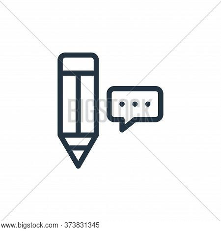 pencil icon isolated on white background from online learning collection. pencil icon trendy and mod