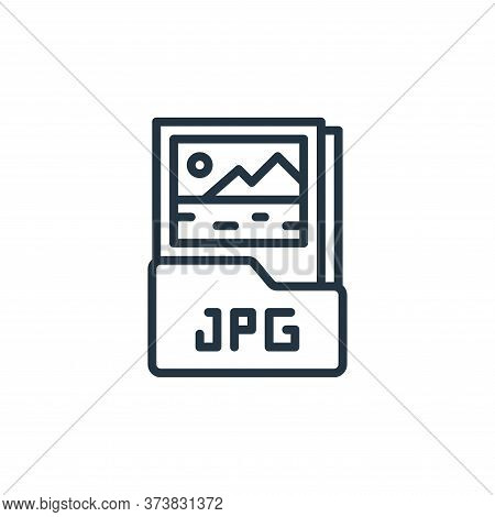 jpg file icon isolated on white background from graphic design collection. jpg file icon trendy and