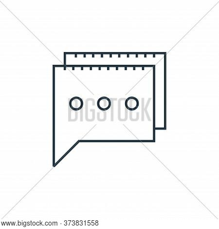 messages icon isolated on white background from online shopping collection. messages icon trendy and