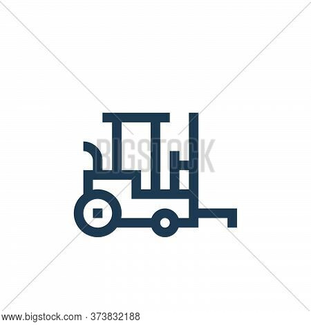 forklift icon isolated on white background from industrial process collection. forklift icon trendy