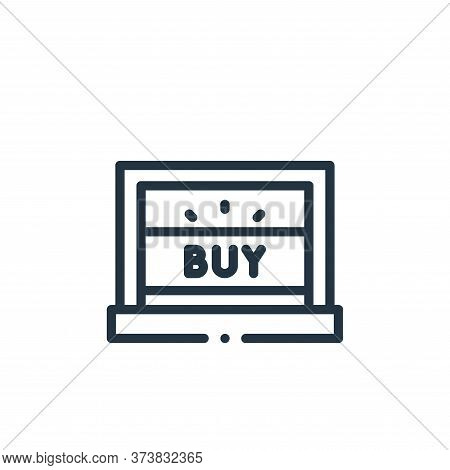 laptop icon isolated on white background from online shopping collection. laptop icon trendy and mod