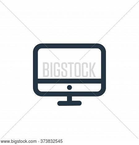 monitor icon isolated on white background from device collection. monitor icon trendy and modern mon