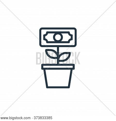 investment icon isolated on white background from money collection. investment icon trendy and moder