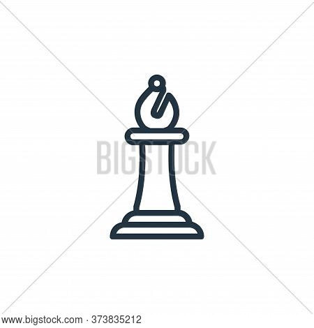 bishop icon isolated on white background from chess game collection. bishop icon trendy and modern b