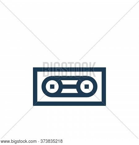 cassette tape icon isolated on white background from rock and roll collection. cassette tape icon tr