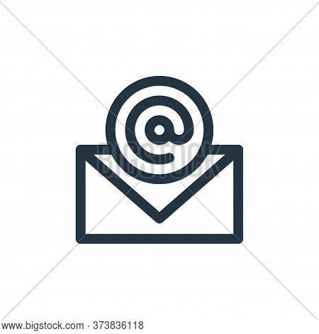 email icon isolated on white background from communication and media collection. email icon trendy a
