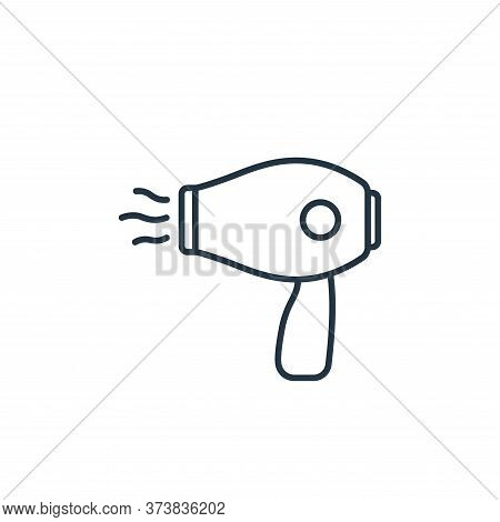 hair dryer icon isolated on white background from beauty cosmetics collection. hair dryer icon trend
