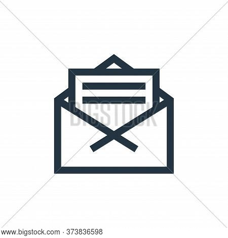 letter icon isolated on white background from news collection. letter icon trendy and modern letter