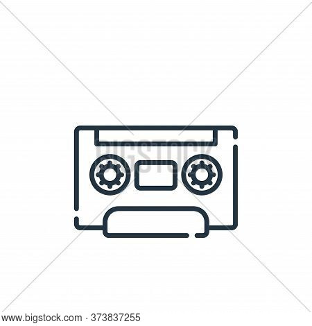 radio cassette icon isolated on white background from hippies collection. radio cassette icon trendy