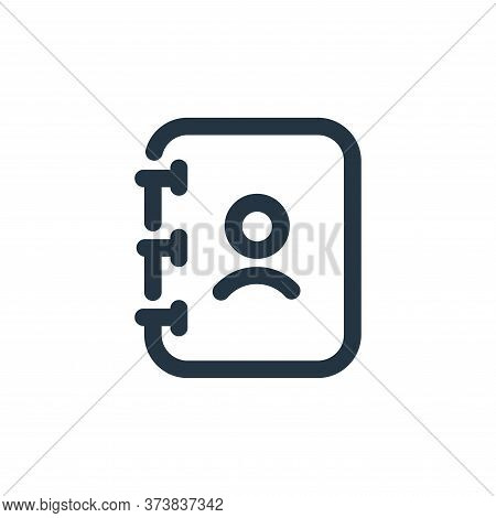 phone book icon isolated on white background from user interface collection. phone book icon trendy