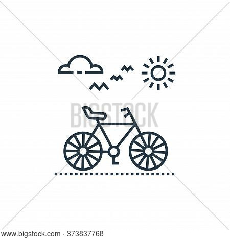 cycle icon isolated on white background from tourism collection. cycle icon trendy and modern cycle