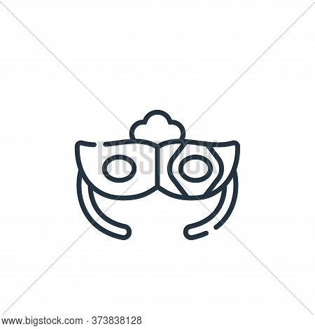 eye mask icon isolated on white background from italy collection. eye mask icon trendy and modern ey