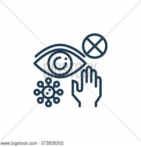 eyes icon isolated on white background from coronavirus collection. eyes icon trendy and modern eyes