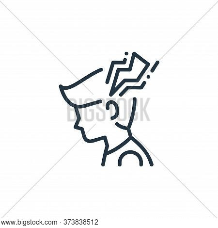 headache icon isolated on white background from virus spread collection. headache icon trendy and mo