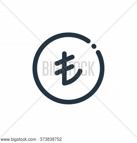 turkish lira icon isolated on white background from currency collection. turkish lira icon trendy an