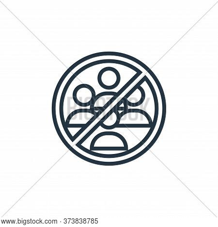 avoid crowds icon isolated on white background from pandemic collection. avoid crowds icon trendy an
