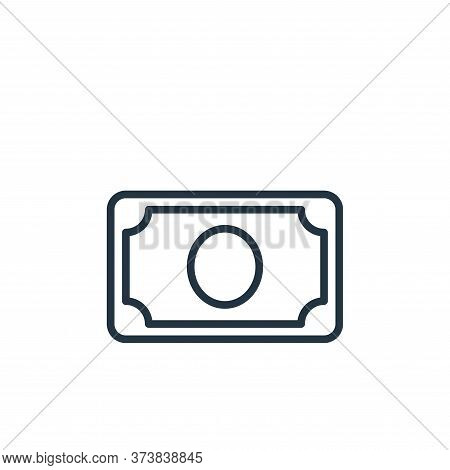 money icon isolated on white background from money collection. money icon trendy and modern money sy