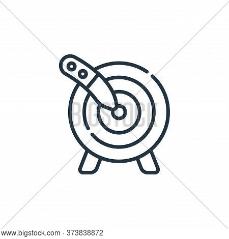 Knife Throwing icon isolated on white background from circus collection. Knife Throwing icon trendy