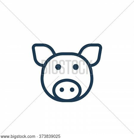 swine icon isolated on white background from coronavirus collection. swine icon trendy and modern sw