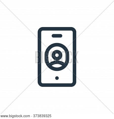 smartphone icon isolated on white background from communication and media collection. smartphone ico
