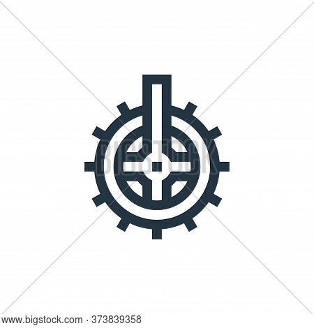 cogwheel icon isolated on white background from manufacturing collection. cogwheel icon trendy and m