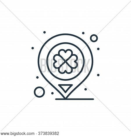 location icon isolated on white background from saint patrick collection. location icon trendy and m