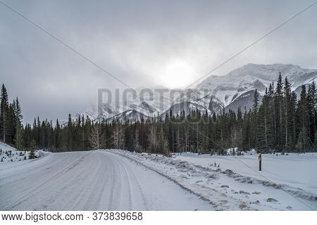 Kananaskis Country In Winter Time, Alberta, Canadae