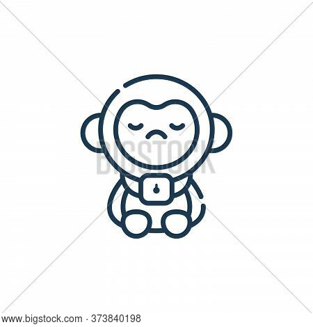monkey icon isolated on white background from animal welfare collection. monkey icon trendy and mode