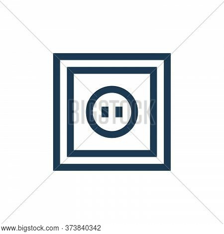 power socket icon isolated on white background from electrician tools and elements collection. power