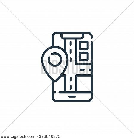 mobile map icon isolated on white background from navigation and maps collection. mobile map icon tr