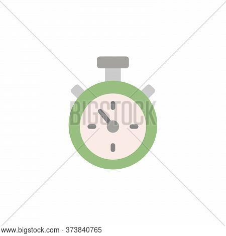 Stopwatch Colored Icon. Simple Colored Element Illustration. Stopwatch Concept Symbol Design From Go