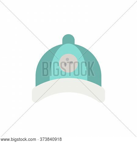 Golf Hat Colored Icon. Simple Colored Element Illustration. Golf Hat Concept Symbol Design From Golf