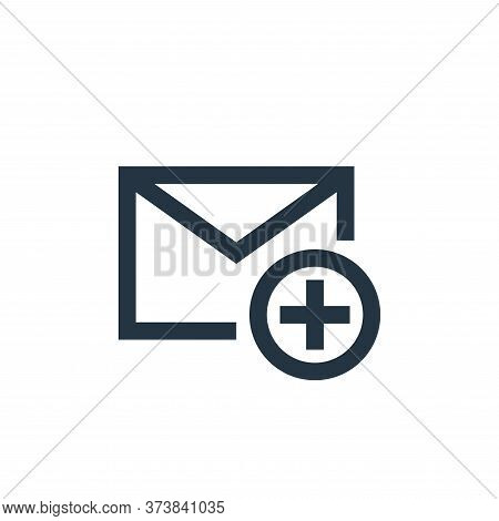 add icon isolated on white background from email collection. add icon trendy and modern add symbol f