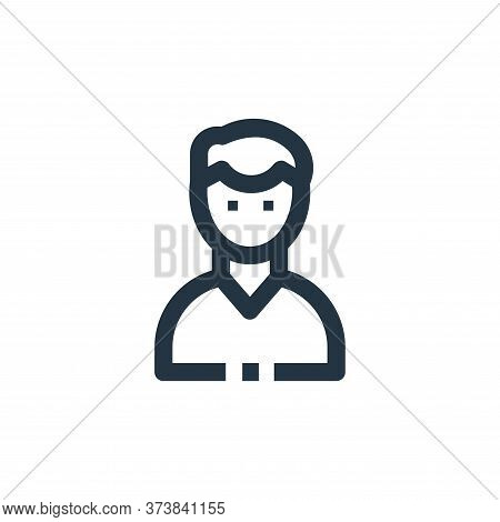 male icon isolated on white background from medical kit collection. male icon trendy and modern male