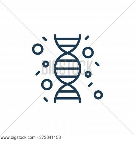 dna string icon isolated on white background from coronavirus collection. dna string icon trendy and