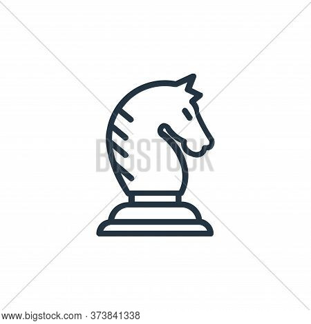 knight icon isolated on white background from chess game collection. knight icon trendy and modern k