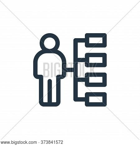 skills icon isolated on white background from life skills collection. skills icon trendy and modern