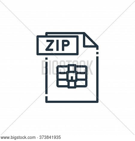 zip file icon isolated on white background from file type collection. zip file icon trendy and moder