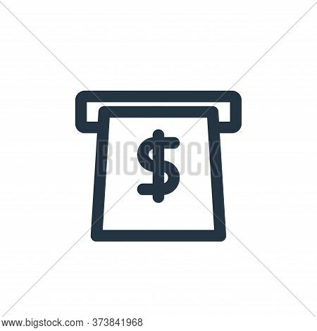 atm icon isolated on white background from marketing business collection. atm icon trendy and modern