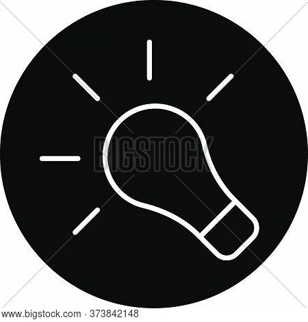 Light Bulb Black Glyph Icon. Think Of Bright Idea. Creative Solution. Smart Thought. Inspiration For
