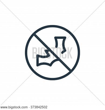 banned icon isolated on white background from coronavirus collection. banned icon trendy and modern