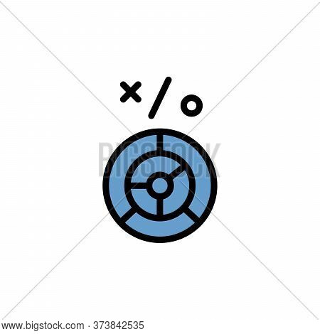 Labyrinth Colored Icon. Simple Color Element Illustration. Labyrinth Concept Outline Symbol Design F