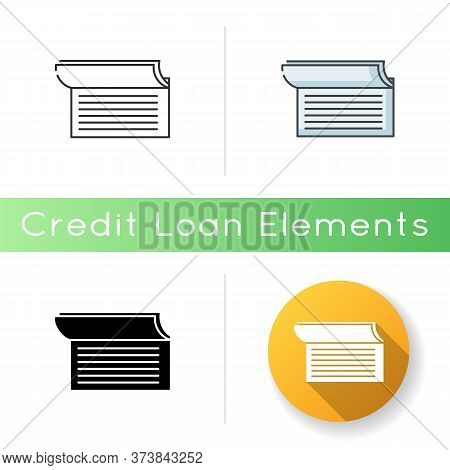Checkbook Icon. Document For Commerce. Payroll For Payment. Write Cheque. Check Book Notes. Accounti