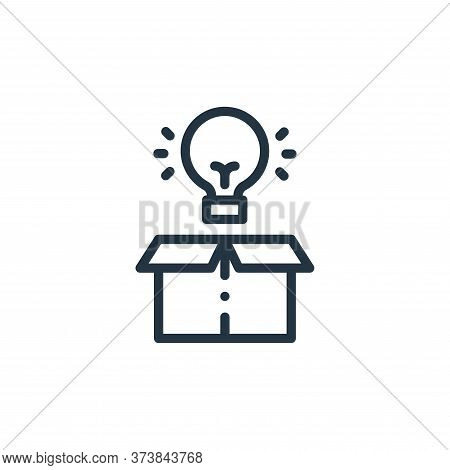 light bulb icon isolated on white background from design thinking collection. light bulb icon trendy