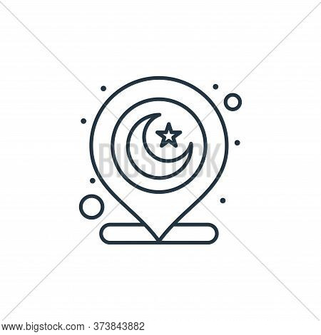 muslim icon isolated on white background from islam and ramadan collection. muslim icon trendy and m
