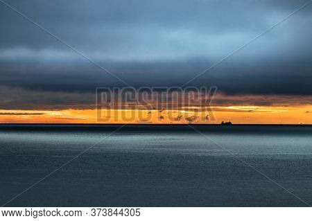 Stormy Weather At Dusk - Sunset On The Bering Sea, Alaska.