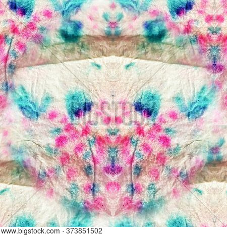 Colorful Paint Texture. Contrast Mottled Pattern. Colorful Beautiful Textile Pattern. Kaleidoscopic