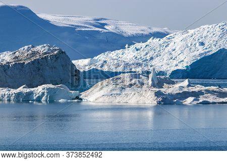Detail Of The Jakobshavn Glacier Also Know As Ilulissat Glacier In Greenland.